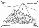 Picchu sketch template