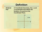 Definition--Ordered Pair | Media4Math