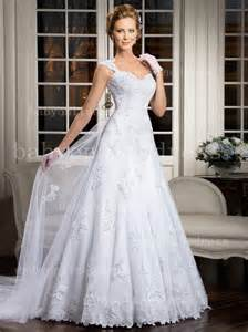 wedding dress styles new style tulle a line spaghetti wedding dresses applique lace covered button backless bridal