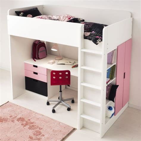 Loft Bed With Desk Ikea by Stuva Loft Bed With 4 Drawers 2 Doors White
