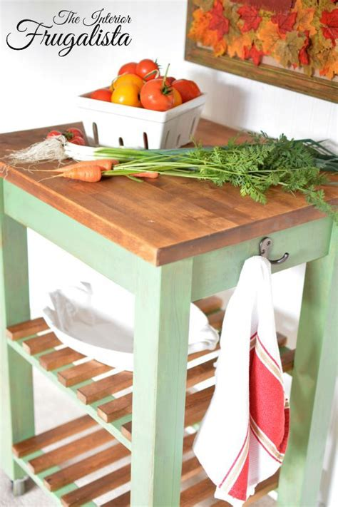 kitchen butcher block island ikea ikea bekvam kitchen cart with food safe wooden top block 7740