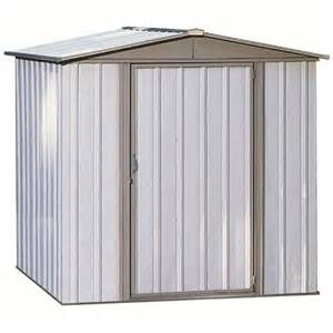 shop arrow sentry galvanized steel storage shed common 6 ft x 5 ft interior dimensions 5 5