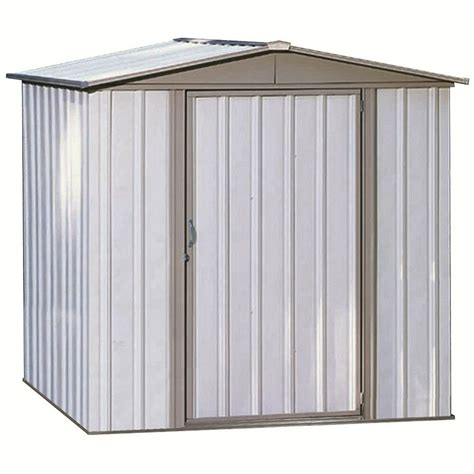 Metal Storage Shed Home Depot by Shop Arrow Sentry Galvanized Steel Storage Shed Common 6