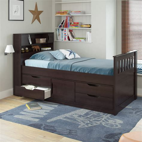 Captains Bed by Corliving Captains Bed Captains Beds