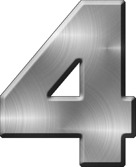 presentation alphabets brushed metal letter a presentation alphabets brushed metal numeral 4 31331