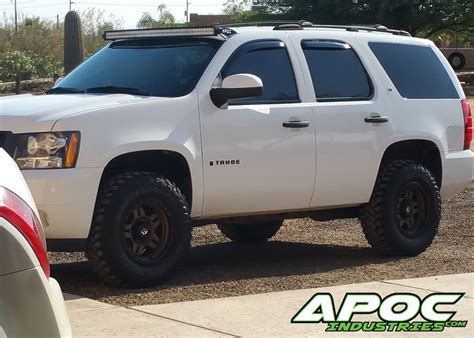 chevy tahoe apoc roof mount   curved led light