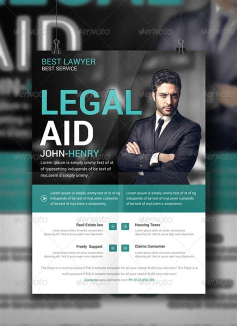lawyer flyer  print templates