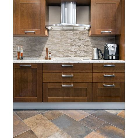 kitchen backsplash peel and stick tiles smart tiles bellagio sabbia 10 06 in w x 10 00 in h peel