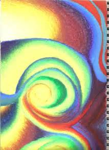 Abstract Oil Pastel Drawings