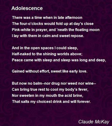 adolescence poem  claude mckay poem hunter