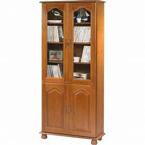 Bibliotheque Chene Clair : biblioth que ch ne rustique 4 portes beaux meubles pas chers ~ Voncanada.com Idées de Décoration