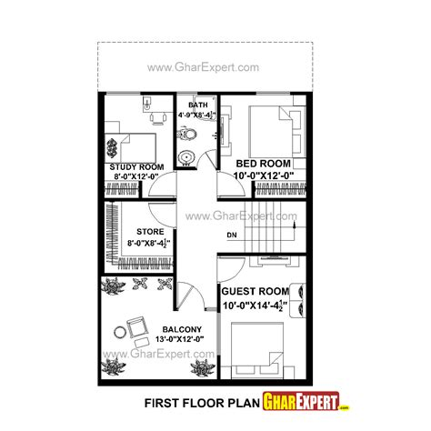 25by 50 plot size lay out plan house plan for 25 by 40 plot plot size 111 square yards gharexpert