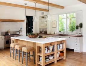 Kitchen Islands With Butcher Block Top 15 Lovely Farmhouse Kitchen Interior Designs To Fall In With