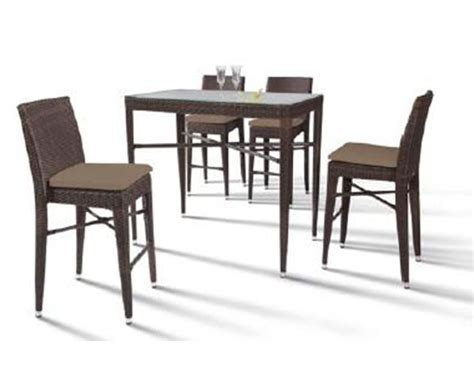 pub table with four chairs rectangular patio bar table and four bar chairs 44ph25 m