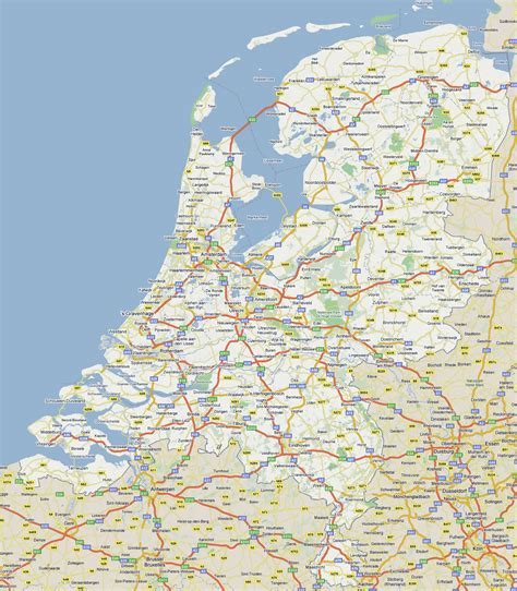 large road map  netherlands   cities vidiani