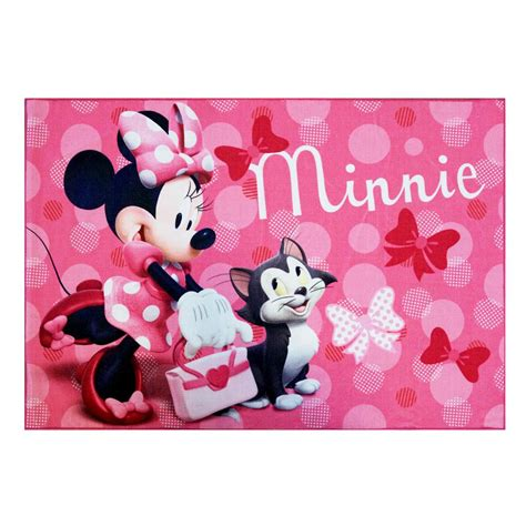 minnie mouse area rug disney minnie mouse pink 4 ft 6 in x 6 ft 6 in