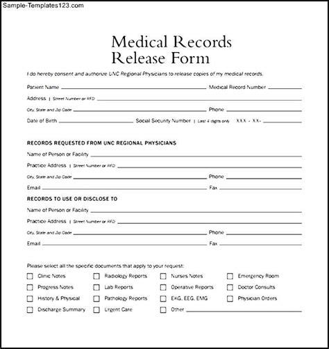 medical form  templates  printable