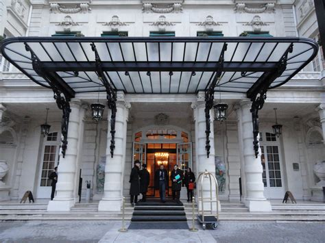 Awning Of The Shangri-la Hotel In Paris, 23 January