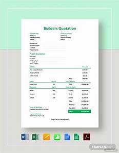 Free 6 Builders Quotation Samples In Pdf Ms Word