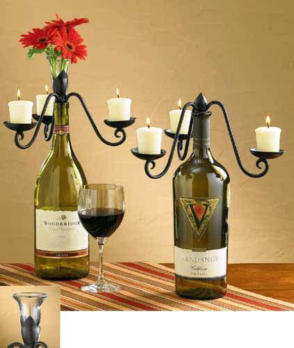 ideas  wine bottle centerpieces  pinterest