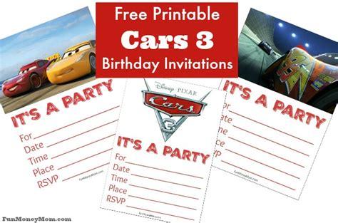 printable cars birthday invitations fun money mom