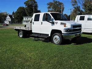 Purchase Used 2008 Chevrolet Kodiak C4500 Crew Cab Rear Air Ride Duramax Turbo Diesel Flatbed In