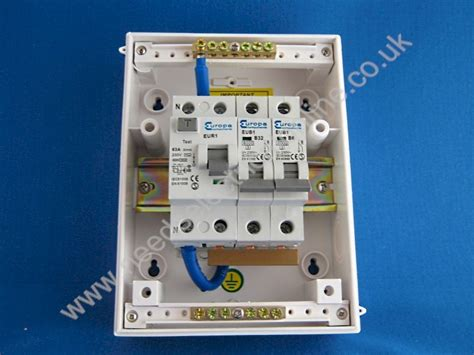 needs electrical europa components ip55 2 way garage consumer unit 63a rcd grg32e