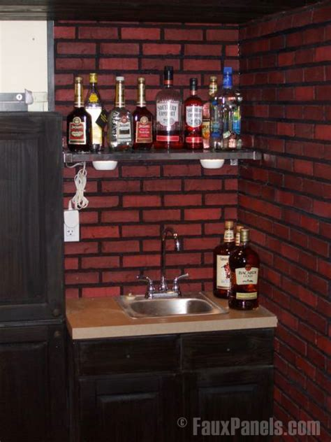 faux brick backsplash in kitchen easy diy backsplashes in the kitchen creative faux panels 8919