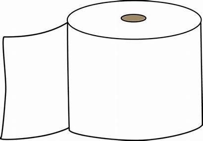 Toilet Paper Clip Clipart Bathroom Outline Toilets
