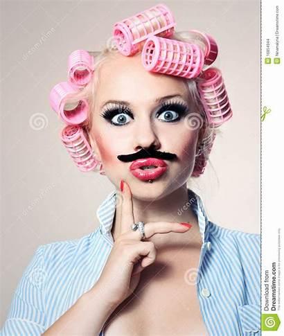 Moustache Attractive Mustache Bigote Fille Avec Woman