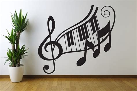 Note Wall Decor - note treble clef wall decal