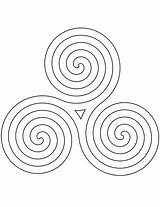 Pattern Celtic Coloring Spiral Pages Printable Swirls Categories sketch template