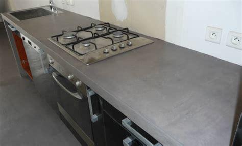 beton ciré cuisine plan travail plan de travail cuisine en beton cire home design