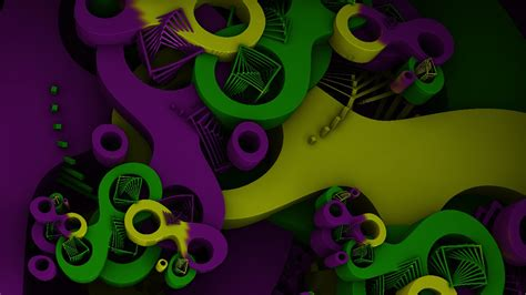 Mardi Gras Fractal Animation Youtube Link By