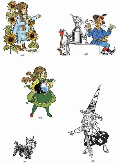Wizard Oz Denslow Clip Illustrations Clipart Illustration