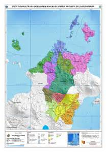 administrasi kabupaten minahasa utara peta tematik indonesia