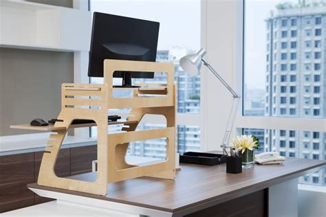 home office standing desk adjustable plywood standing desk for home office