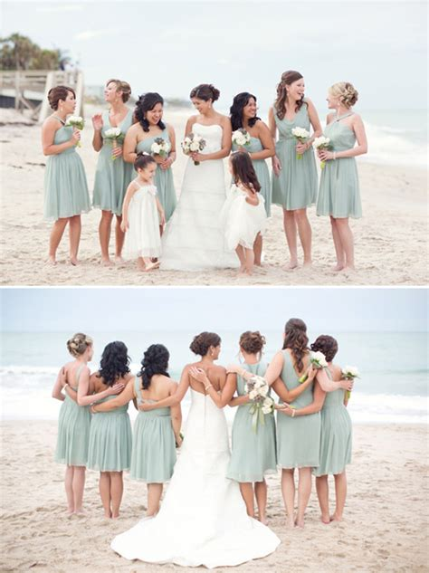 beach wedding with muted natural color palette junebug