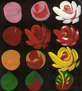 Easy way to paint roses in a few steps. | Art Activities ...