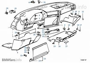Bmw E30 Dashboard Parts Diagram