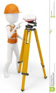 3d man surveyor with gps station royalty free stock photography image 34649587