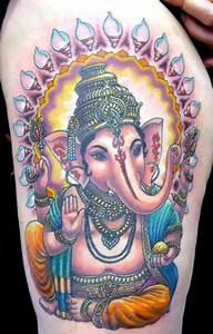 Beautiful Buddhist Elephant Tattoo Idea