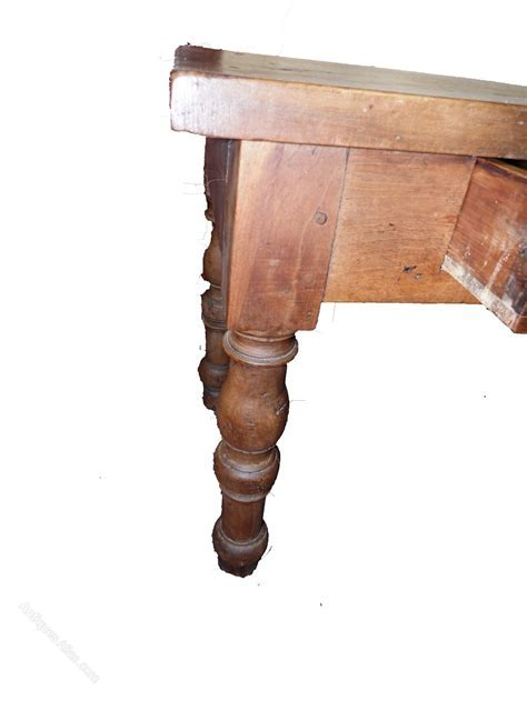 Very Old Walnut Farm/Harvest Table   Antiques Atlas