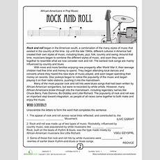 History Of Rock 'n' Roll Worksheet  Homeschool  Music  Dance Pinterest