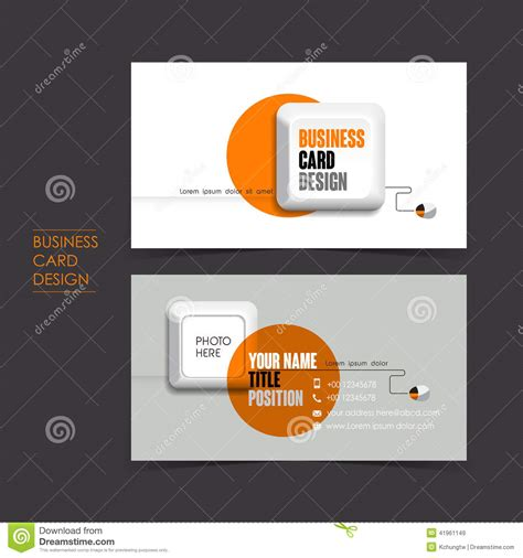 Vector Business Card Set With Keyboard Stock Vector ...