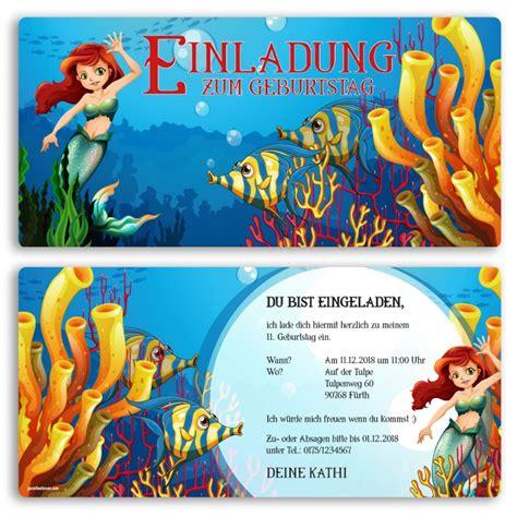 einladungskarten im meerjungfrauen design bestellen