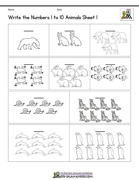 pre k worksheets numbers 1 10 simple 123 number