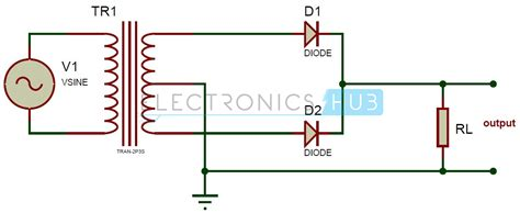 full wave rectifier theory circuit working  ripple factor