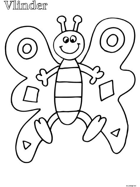 Vlinder Kleurplaat Peuters by Peuter Kleurplaat Vlinder