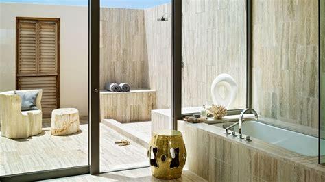 Dapper West Indian Viceroy Villas by Outdoor Shower Marble Tile Bathroom Interior Design Ideas